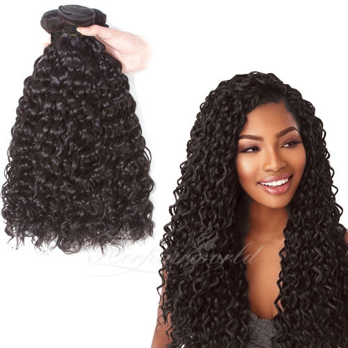Wholesale Natural Curly100% Virgin Human Hair(100grams/bundle)