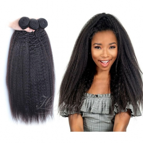 Wholesale  Kinky Straight 100% Virgin Human Hair(100grams/bundle)