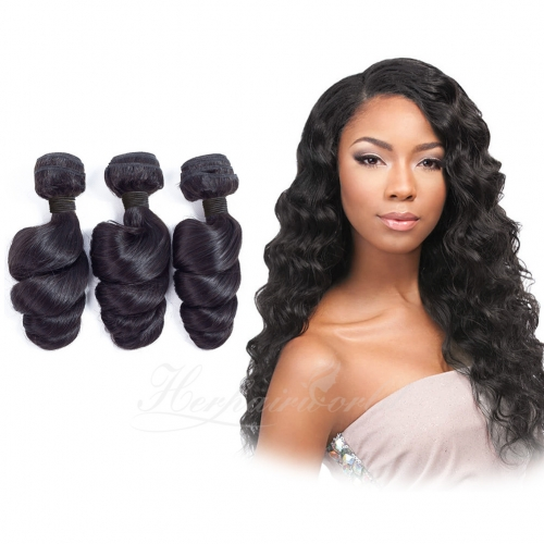 Wholesale Loose Wave 100% Virgin Human Hair(100grams/bundle)