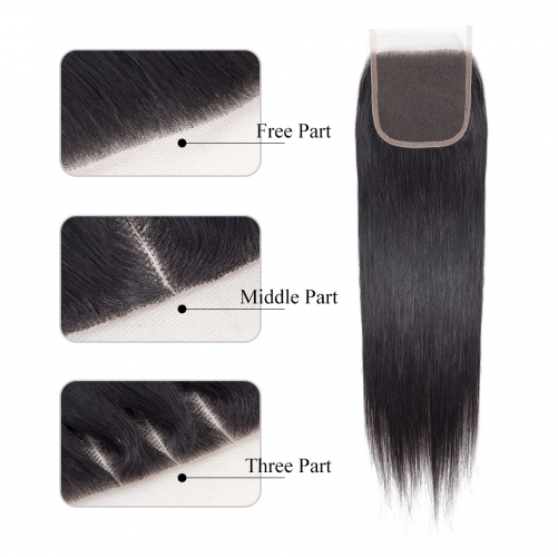 Straight 4*4 Lace Closure