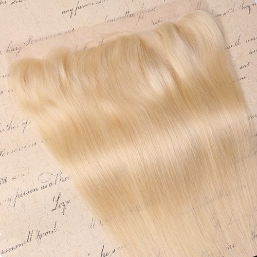 Wholesale  Platinum Blonde #613 Straight 13*4 Lace Frontal