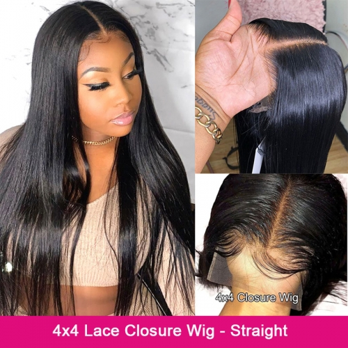 4×4 Lace Closure Wig - Straight(180% Density)